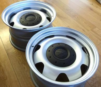 banded steel wheels for sale, banded steelies, wide wheels, wheel banding service.